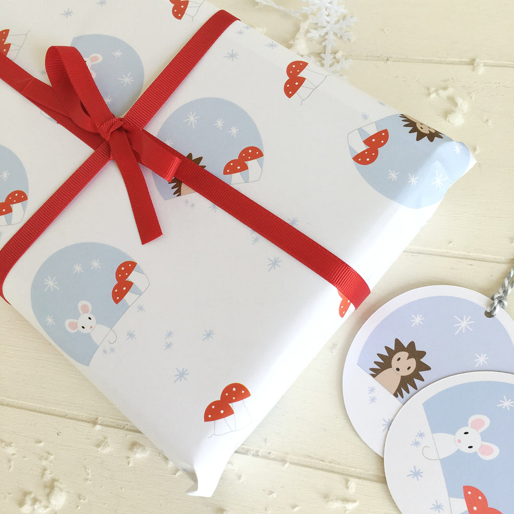 Christmas Gift Wrap Woodland Set - Just Toppers