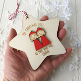 First Christmas as Mrs and Mrs Tree Decoration - Just Toppers