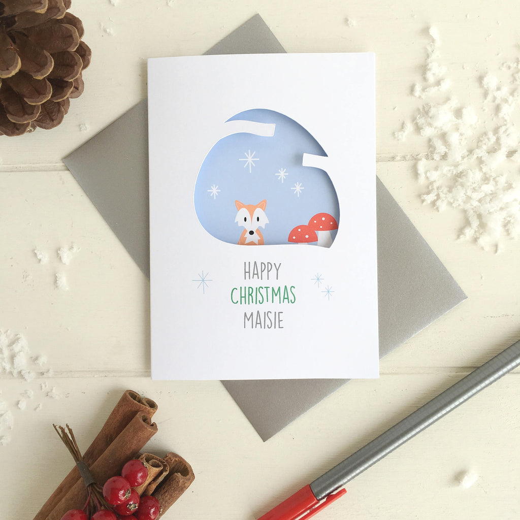 Woodland Animals Christmas Card - Just Toppers