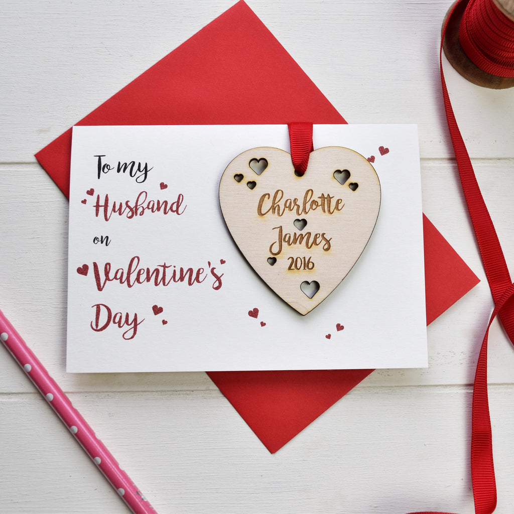 Husband's Valentine's Card and Love Token - Just Toppers
