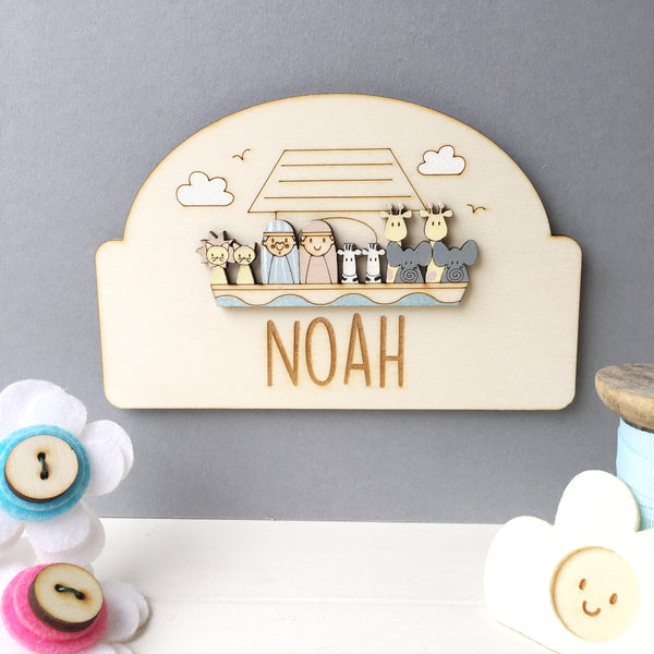 Noah's Ark Door Plaque - Just Toppers