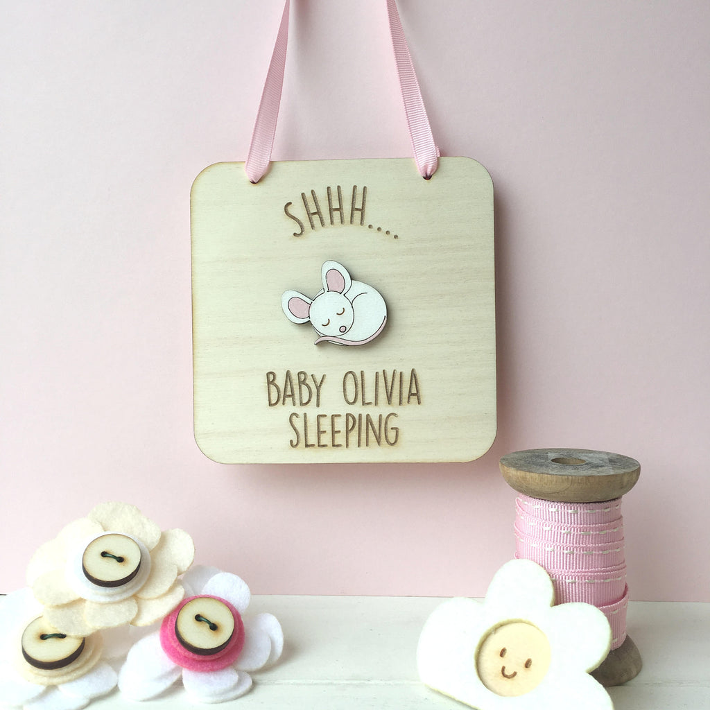 Baby Sleeping Sign - Just Toppers