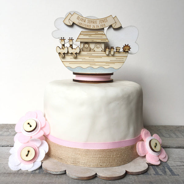Christening Cake Topper - Just Toppers