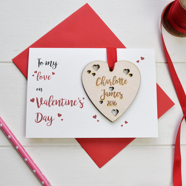 Valentine's Card and Love Token - Just Toppers