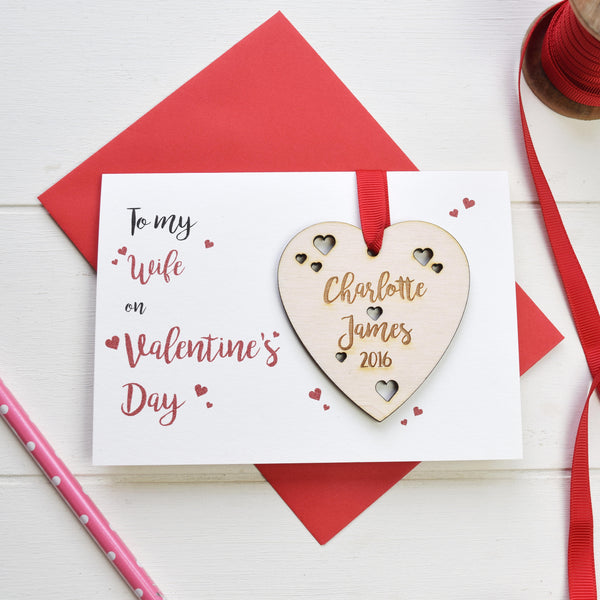 Wife Valentine's Card and Love Token - Just Toppers