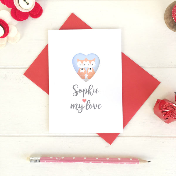 Woodland Animals Valentine's Day Card - Just Toppers