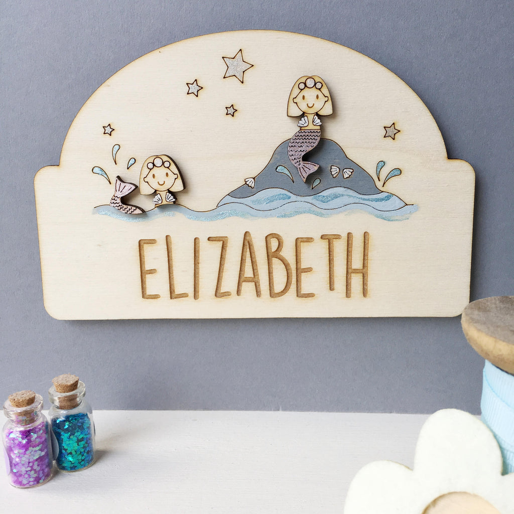 Mermaid Door Plaque - Just Toppers