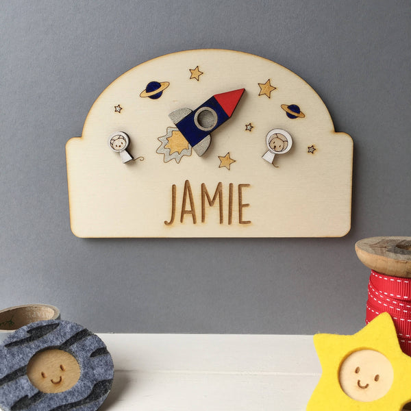 Space Door Plaque - Just Toppers