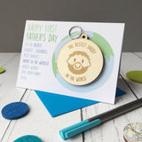 Father's Day Card and Keyring - Just Toppers