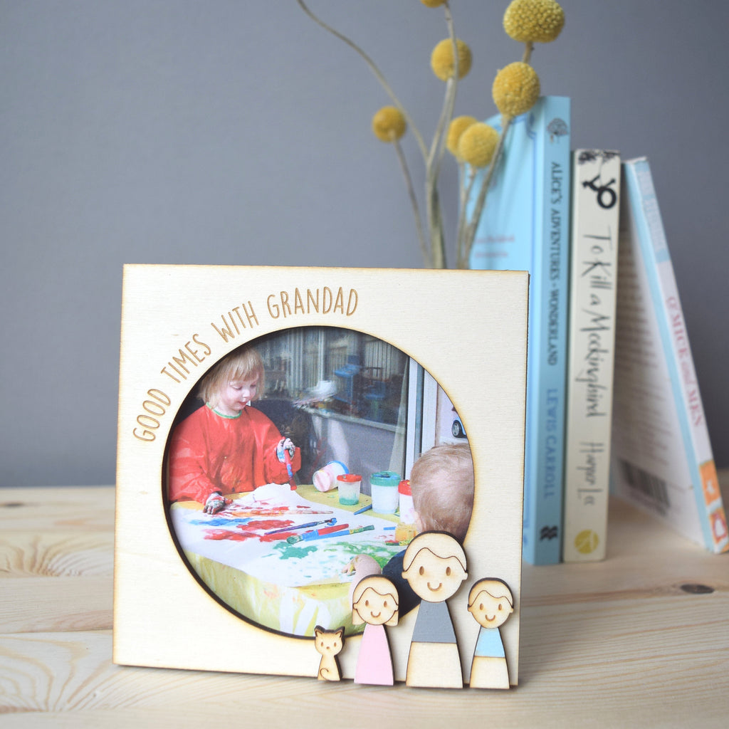 Personalised Grandad or Daddy Photo Frame - Just Toppers