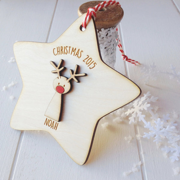 Rudolf Christmas Tree Decoration - Just Toppers