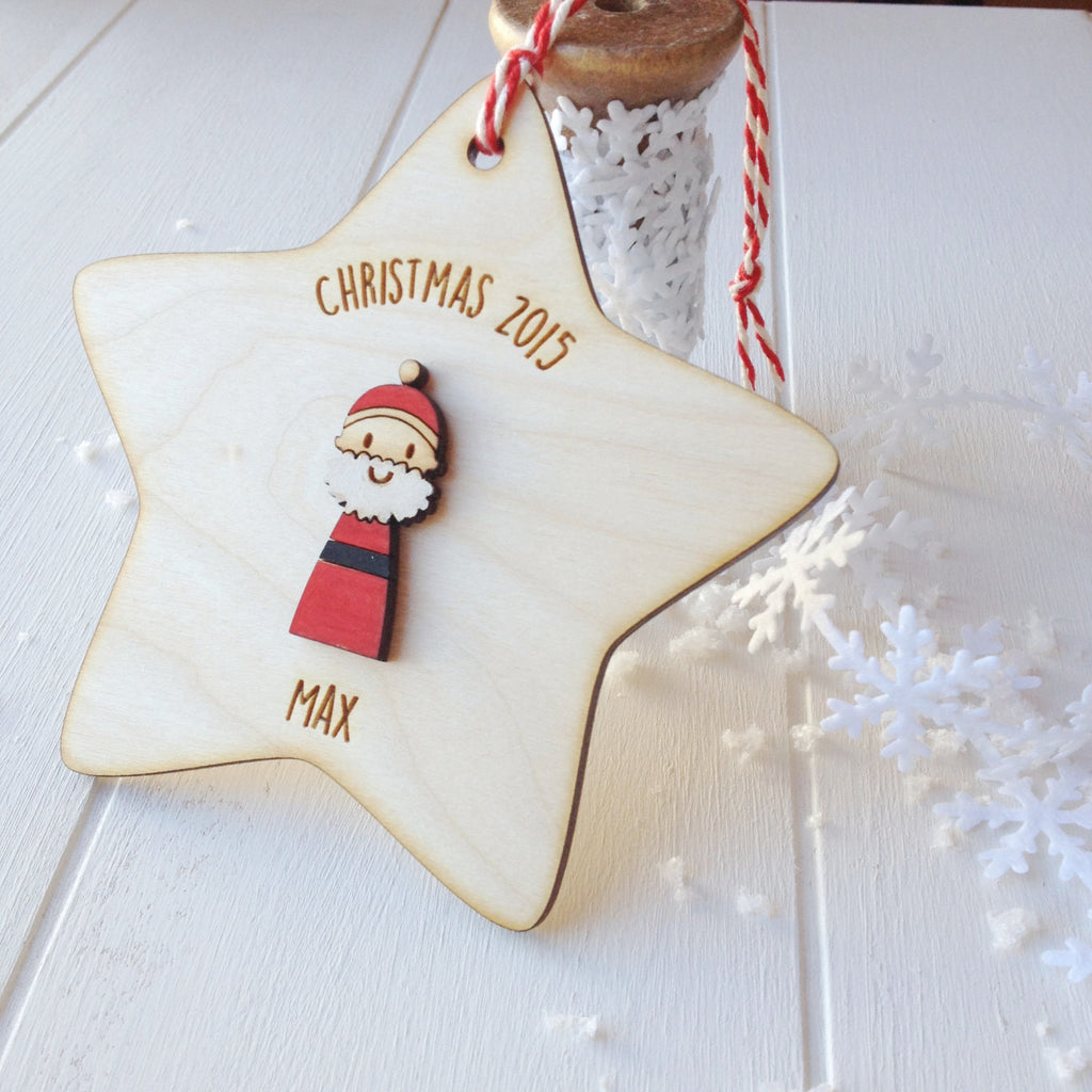 Father Christmas Tree Decoration - Just Toppers