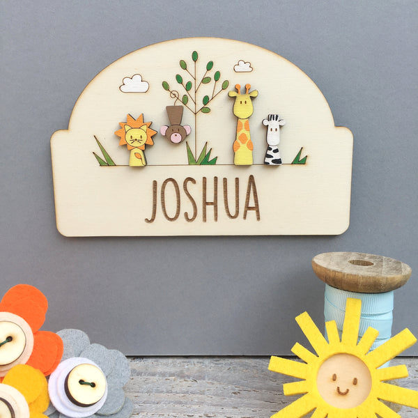 Jungle Door Plaque - Just Toppers