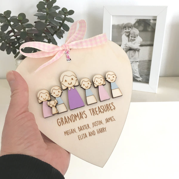Grandma or Mummy's Keepsake Heart - Just Toppers