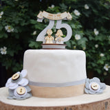 25th Wedding Anniversary Cake Topper - Just Toppers