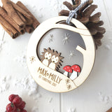 Baby Twins' First Christmas Bauble - Just Toppers