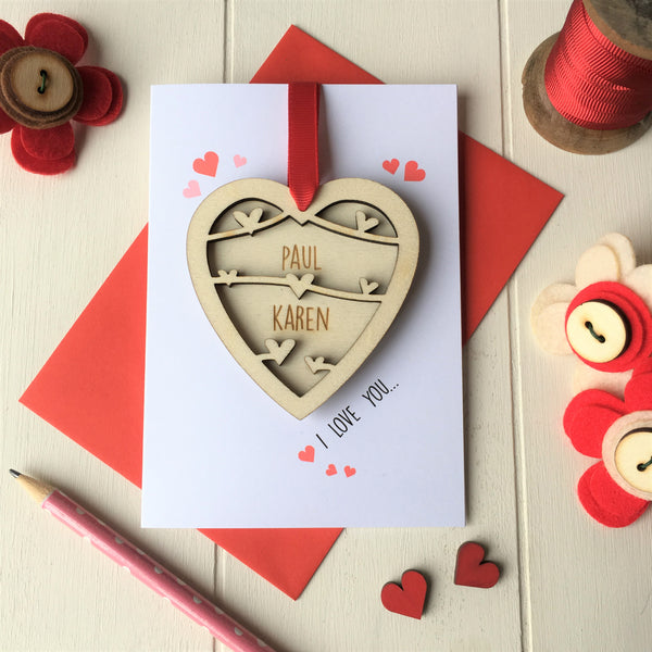 Valentine's Day Card and Love Heart Token - Just Toppers