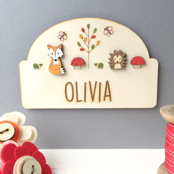 Woodland Door Plaque - Just Toppers