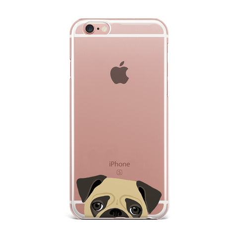 Adorable Crystal Clear Soft Touch Dog/Cat iPhone Cases