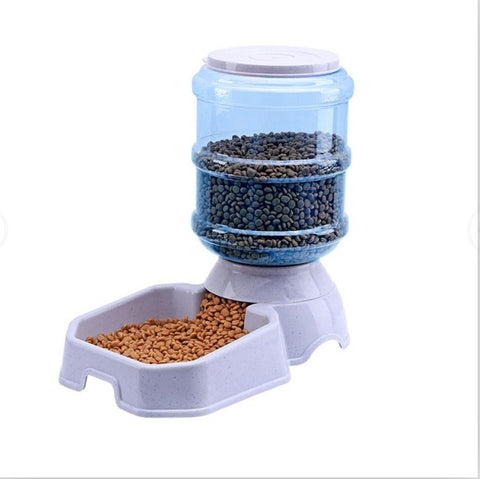 3.8L pet automatic feeder/water dispenser bowl dog