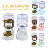 3.8L Large Automatic Dog Feeder and Drinking Fountain