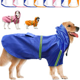 Dog Hooded Raincoat Reflective and Waterproof