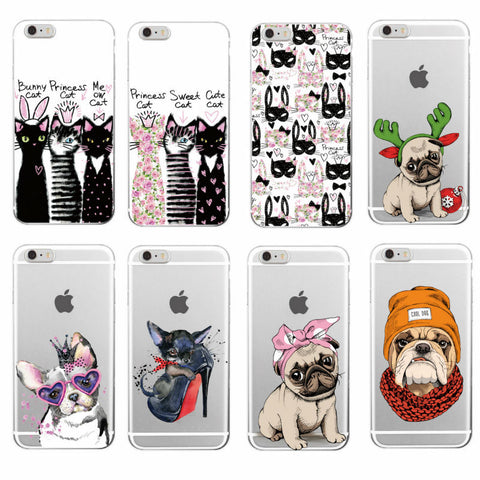 Adorable Soft Touch Dog/Cat iPhone Cases