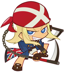 Guilty Gear Axl Keychain w/ Stand