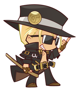 Guilty Gear Johnny Keychain w/ Stand
