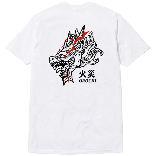 Fire and Blood Tee - White