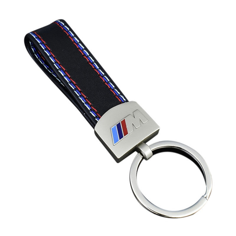 Premium Leather BMW M Keychain