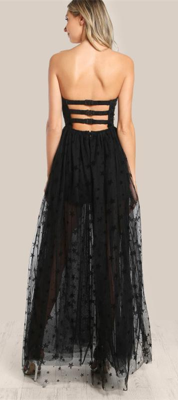Strapless Sheer Dress - Madiani Boutique