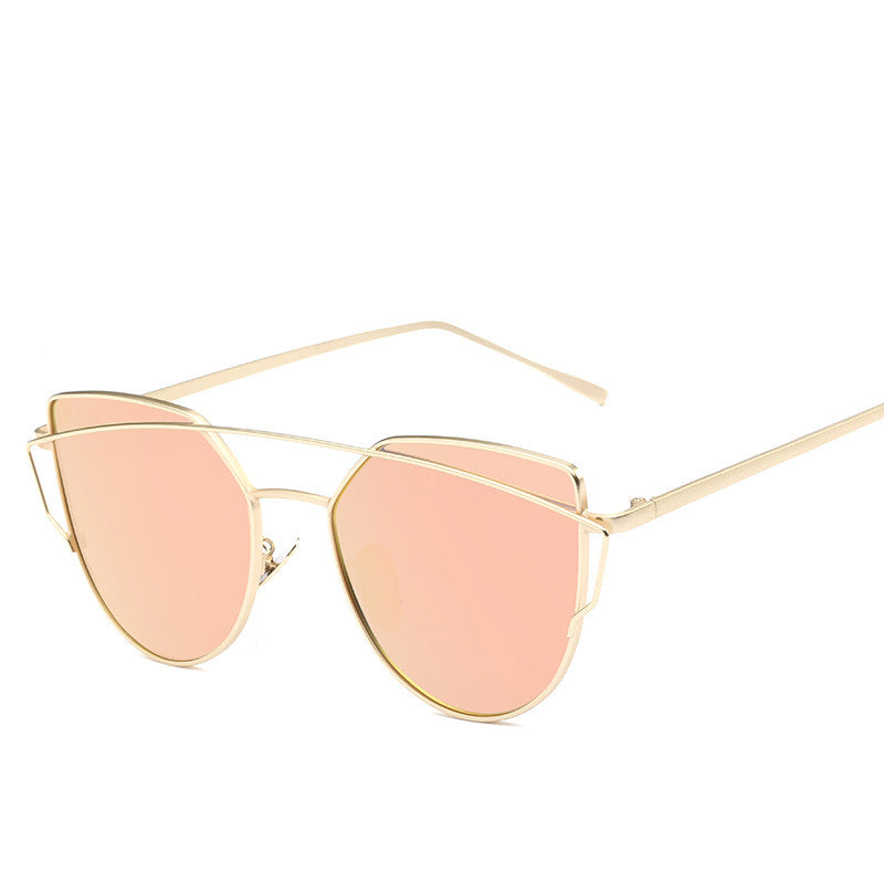 7279c6fe43279 Mirror Flat Rose Gold Vintage Cateye Sunglasses – Madiani Boutique