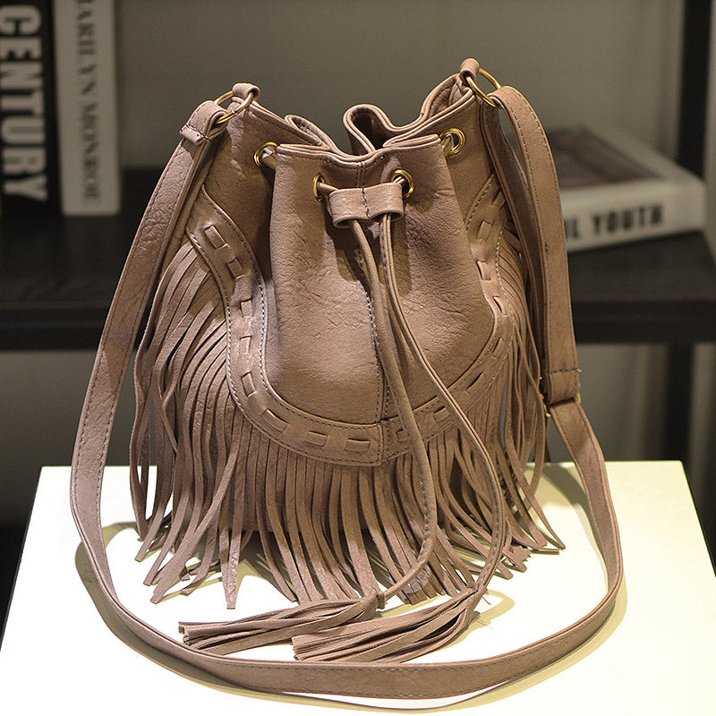 Leather Fringe Shoulder Bag – Madiani Boutique 946855ccc0798