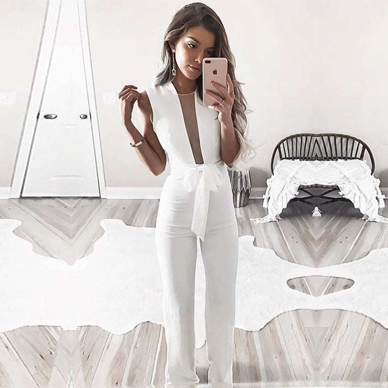 Casual Sleeveless Slim Jumpsuit - Madiani Boutique