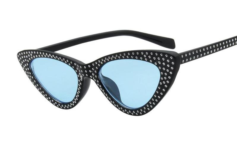 fc404ae69d3cd Small Frame Rhinestone Cat Eye Sunglasses – Madiani Boutique