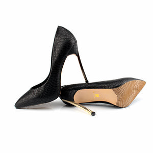 Sexy Black Stiletto Heels - Madiani Boutique
