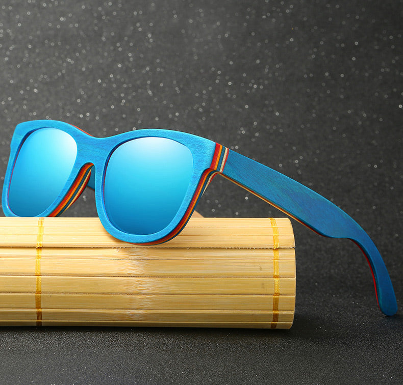 Skateboard Wooden Sunglasses - Alpha Clothing