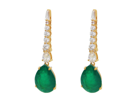 Southpoint Gala Emerald Drop Earrings |Sterling Spocket App
