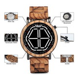 Wooden LED Watch