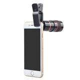 8X Optical Zoom Clip-on Telescope Camera Lens