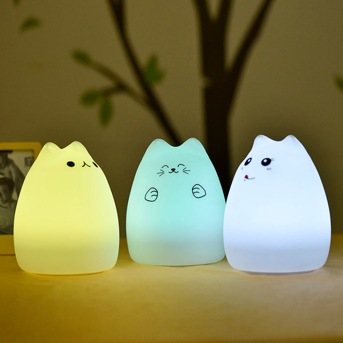 Colorful Cat LED Night Lights