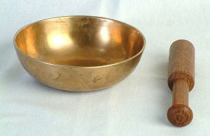 "4"" Singing Bowl Lower-Sided w/Striker - Natural Healthy & Wonderful"