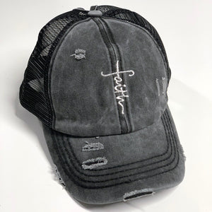 Vintage Faith Cross CC Hat