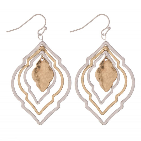 Two Toned Moroccan Earrings