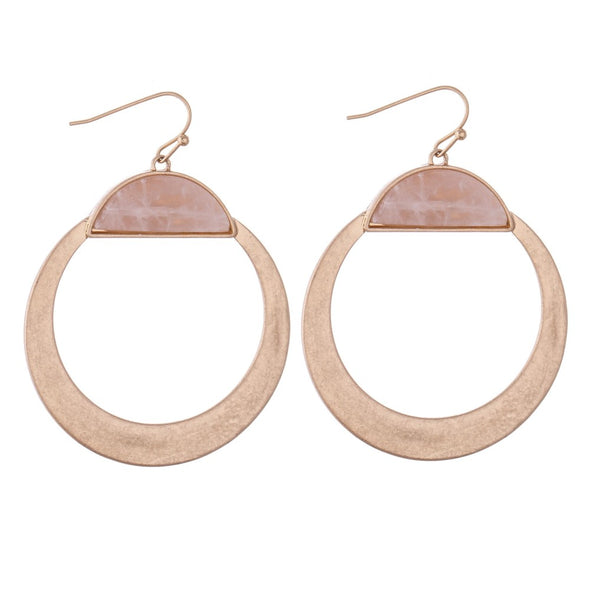 Circular Metal Earrings