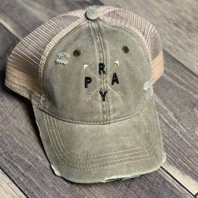 PRAY Arrows Ponytail Hat