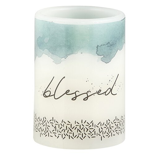 LED Candle Inspirational - Blessed