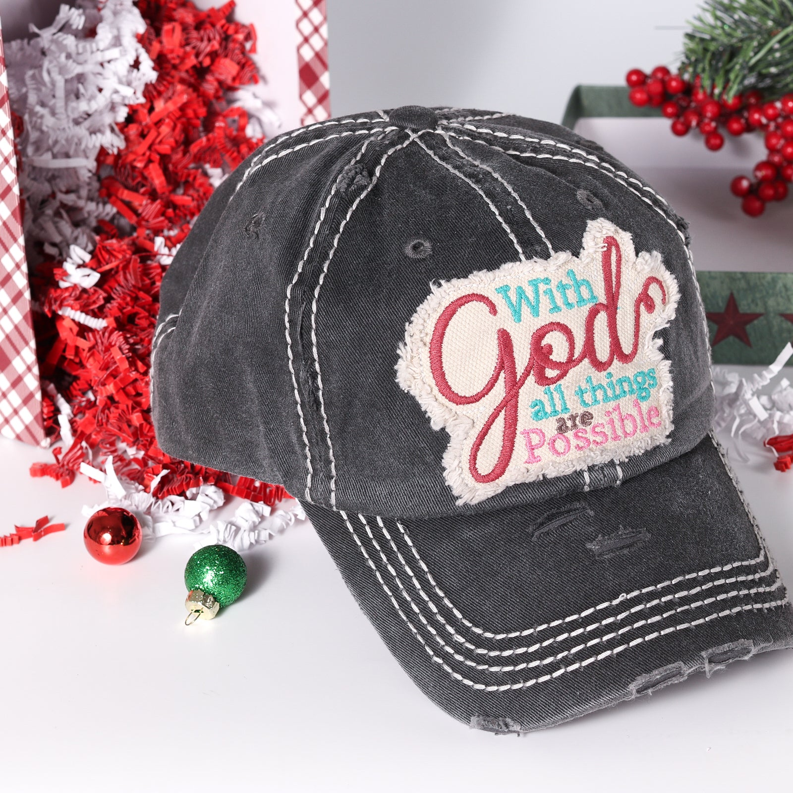 Vintage With God All Things Are Possible Hat