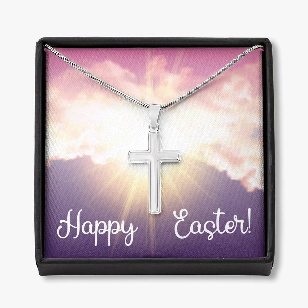Happy Easter Cross Necklace